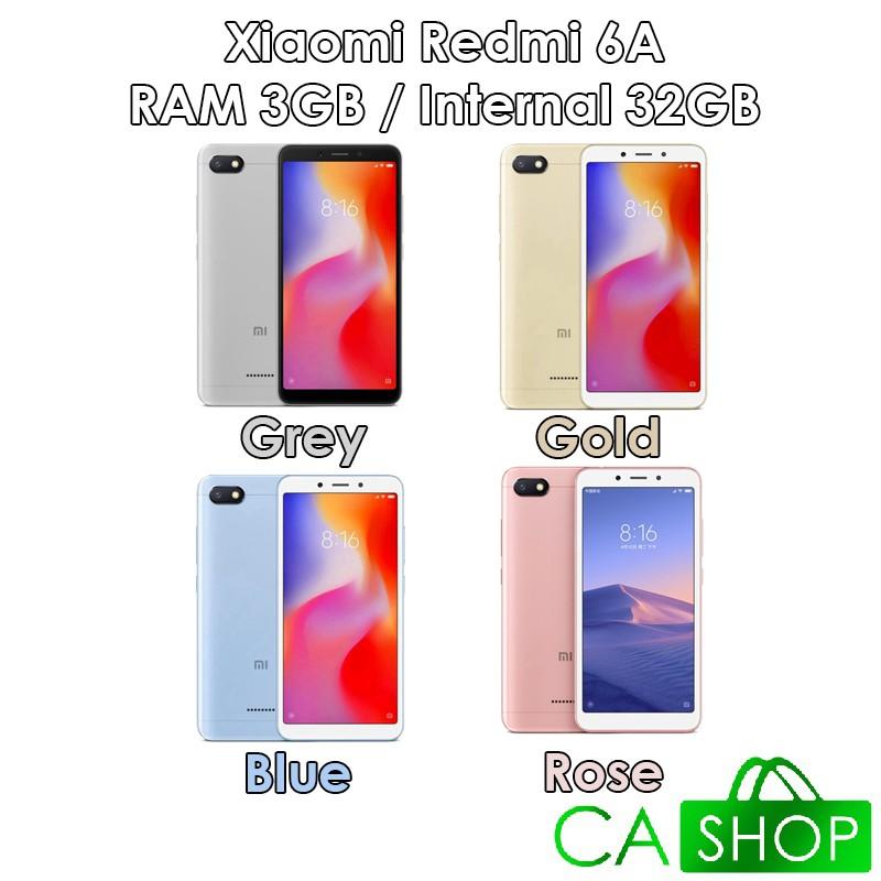 Xiaomi Redmi 6a Prime Ram 3gb Rom 32gb 3 32 Grey Gold Blue