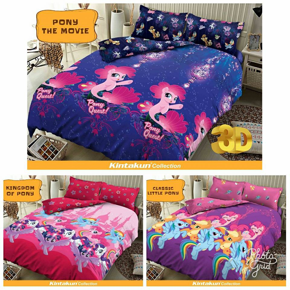 Sprei 180x200 KINTAKUN Motif KINGDOM OF PONY - King 180 Queen 160 - little pony / rainbow dash SP | Shopee Indonesia