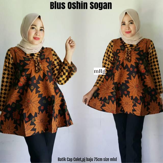 Download Baju Batik Wanita: BLUS BATIK WANITA MODERN