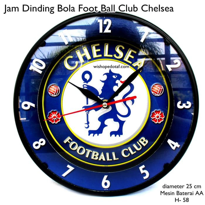 jam dinding foot ball club real madrid  53666bbb38