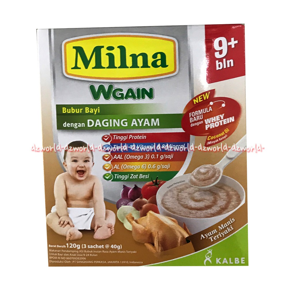 Milna Goodmil Ayam Manis 120 Gr Bubur Bayi 9 Bulan Keatas Untuk