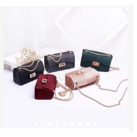 (1KG 3PCS) SBT032 Tas Jelly Bag Wanita Kecil (17-18CM) Jelly Bag Fashion Tas  Murah Batam  278c15f255