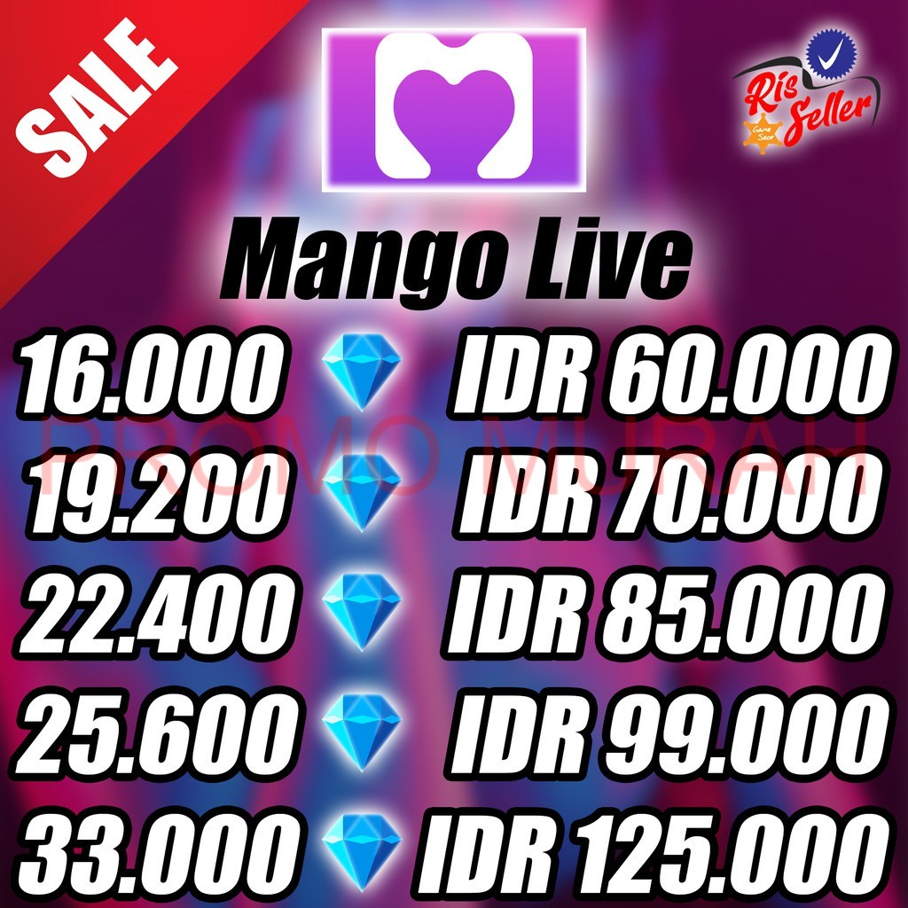 TOP UP Diamond MANGO LIVE - TOP UP MANGO LIVE - MANGO LIVE VIA ID