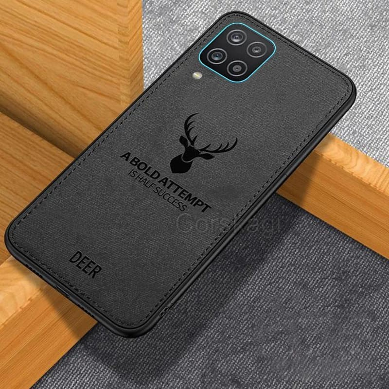 CASE DEER SAMSUNG A12 SOFTCASE TPU JEANS CANVAS BACK COVER