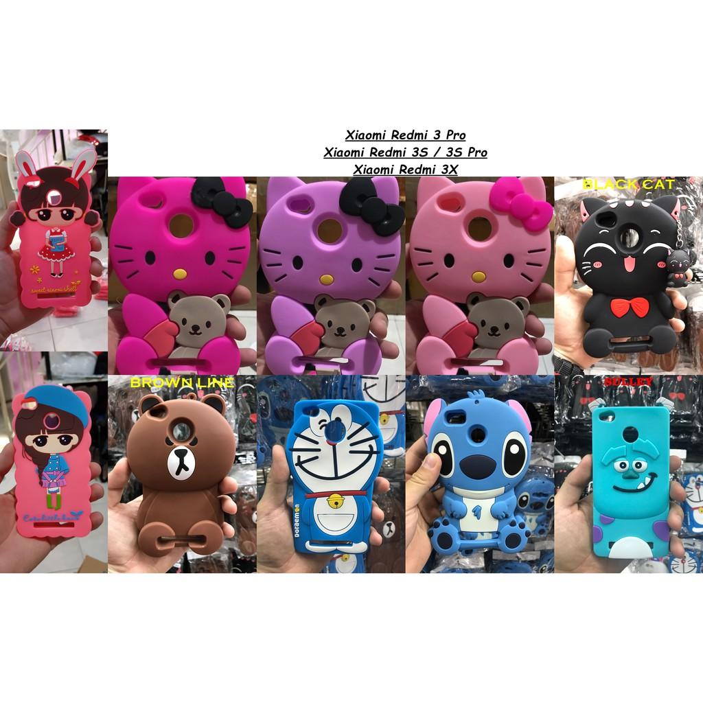 CASE BONEKA 3D - REDMI NOTE 3 3S 3X 3 PRO  7dc179639f