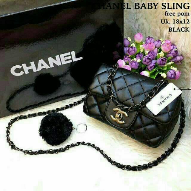 494a313ad68f Tas Chanel Baby Sling Maxi Mini | Shopee Indonesia