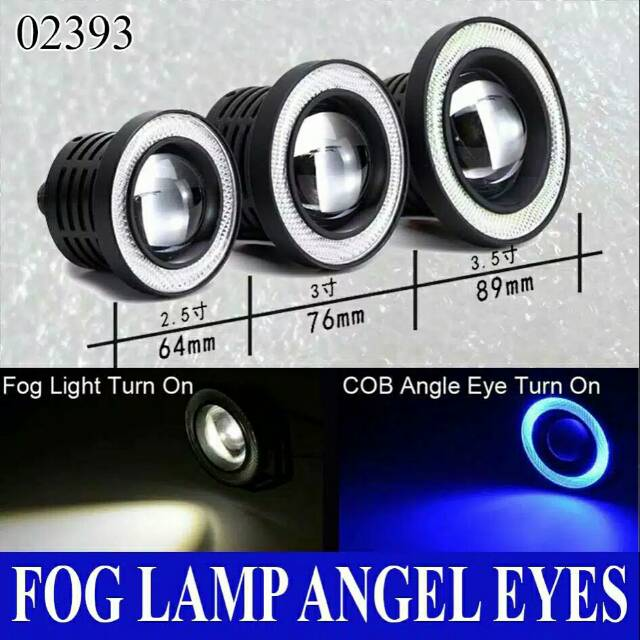 Fog Foglamp Lamp Lampu Kabut Led Eagle Eye Mobil Motor Universal Shopee Indonesia