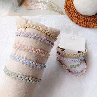 Hand-woven High Elastic Color Twist Hair Rope thumbnail