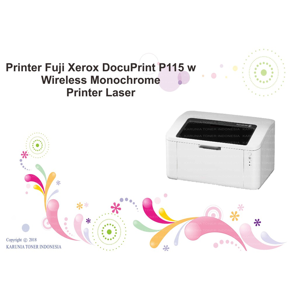 Printer Fuji Xerox Docuprint P115 W Wireless Monochrome Printer