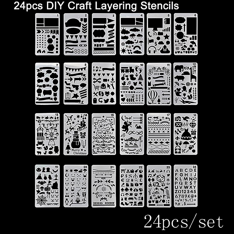 Bullet Journal Stencil Plastic Planner Craft Drawing Template Diary Decor New