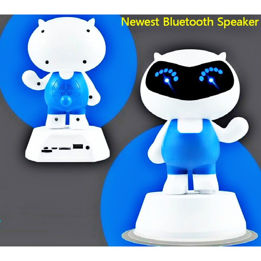 Terbaru Speaker Robot Rb430 Murah Portable De032 Bluetooth 30 Square Mini Hifi Black Shopee Indonesia