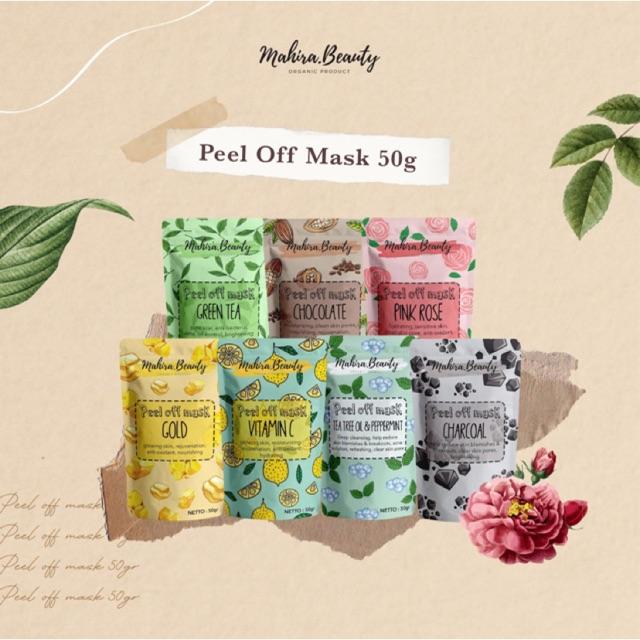 MASKER PEEL OFF 50g / MASKER WAJAH MAHIRA BEAUTY   Shopee ...