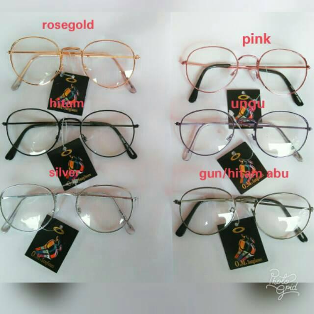 Kacamata   Gold   Pria dan Wanita - Design Korea - BULAT  2020cbd146