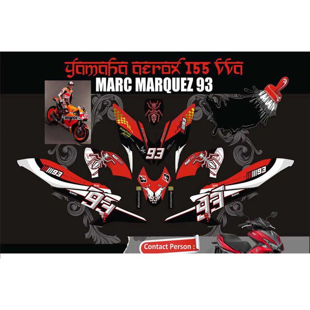 Decal sticker honda vario pgm fi 125r marc marquez repsol shopee indonesia