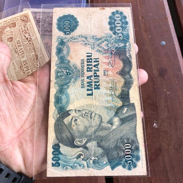 Uang Kuno 5000 Sudirman VF Original