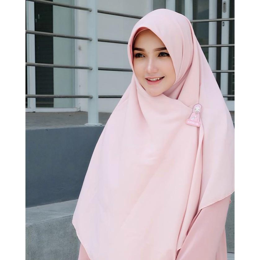 Jilbab Segi Empat Jumbo Syari Wolfis 130 x 130 cm / Hijab segiempat syar'i / Wolpeach square / | Shopee Indonesia