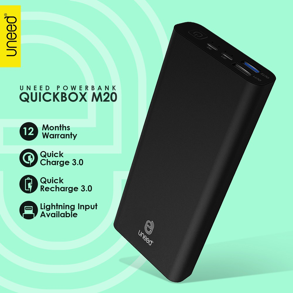 Quick Charge 30 Anker Powerbank Powercore Ii 20000mah Hitam A1260h21 Putih A1260h11 Shopee Indonesia