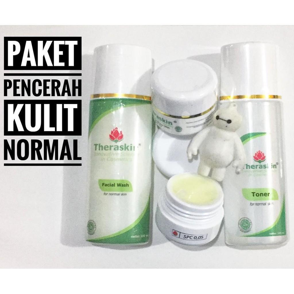 Paket Isi 4 Theraskin Whitening Original Untuk Pemula Cream Suncare Kulit Normal Krim Pemutih Shopee Indonesia