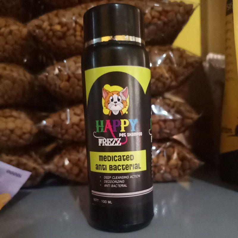 happy shampoo kucing anjing jamur medicinal 100ml