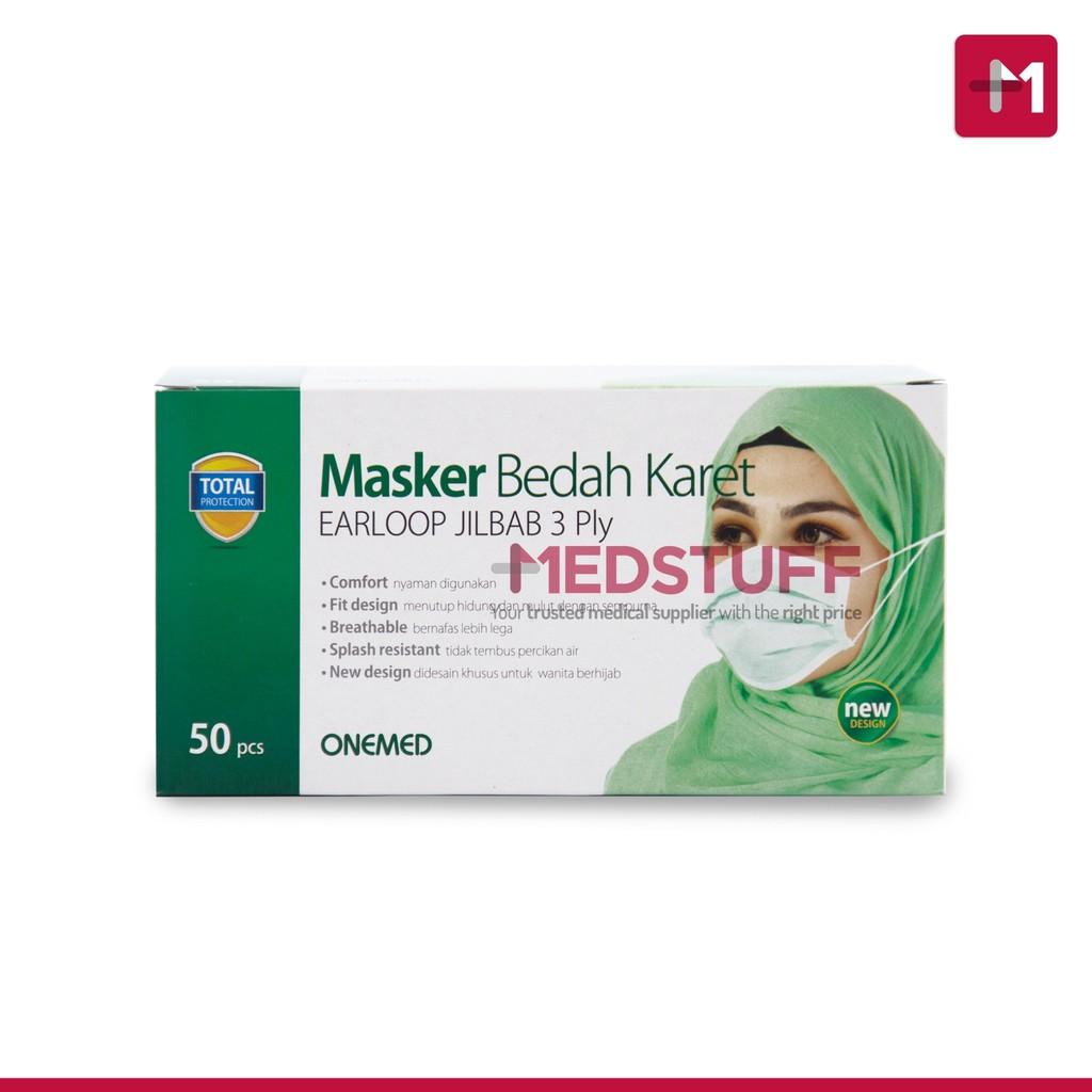 Masker Jilbab 3ply Onemed Box Isi 50 Shopee Indonesia Sensi Doctor Cap Green Penutup Kepala Pcs Khusus Area Pulau Jawa