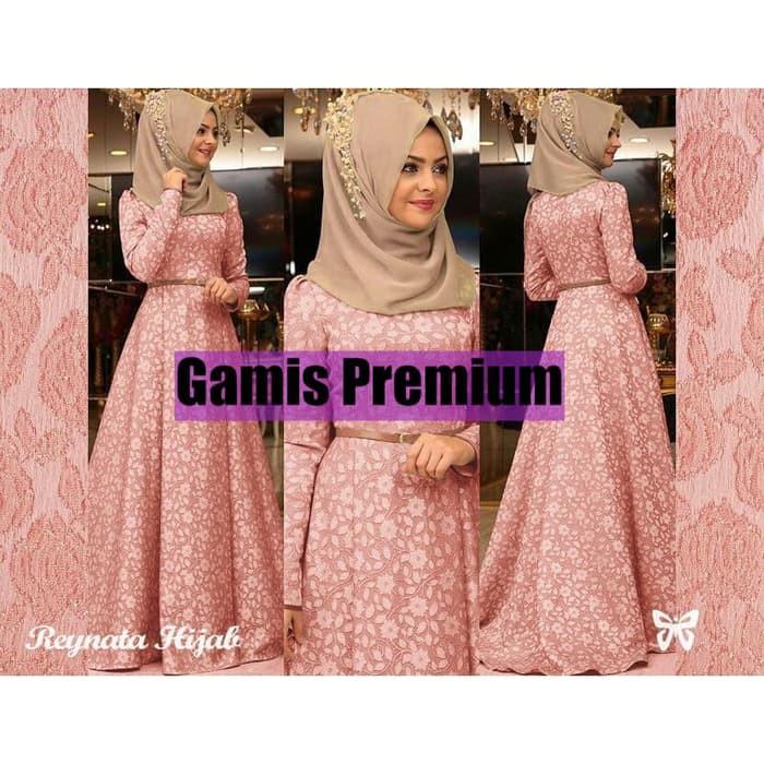 Terlaris Baju Gamis Syari Putih Brokat   Gamis Umroh Haji   Gamis Muslim   10750  db6300e278