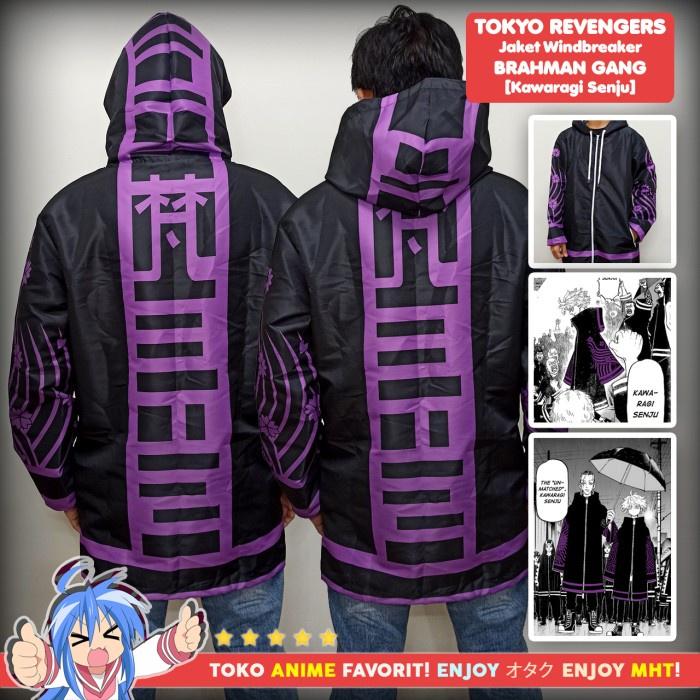 Jaket Pria Jaket Anime Full Print Tokyo Revengers Brahman Gang Senju Kawaragi - M Stok Terbatas