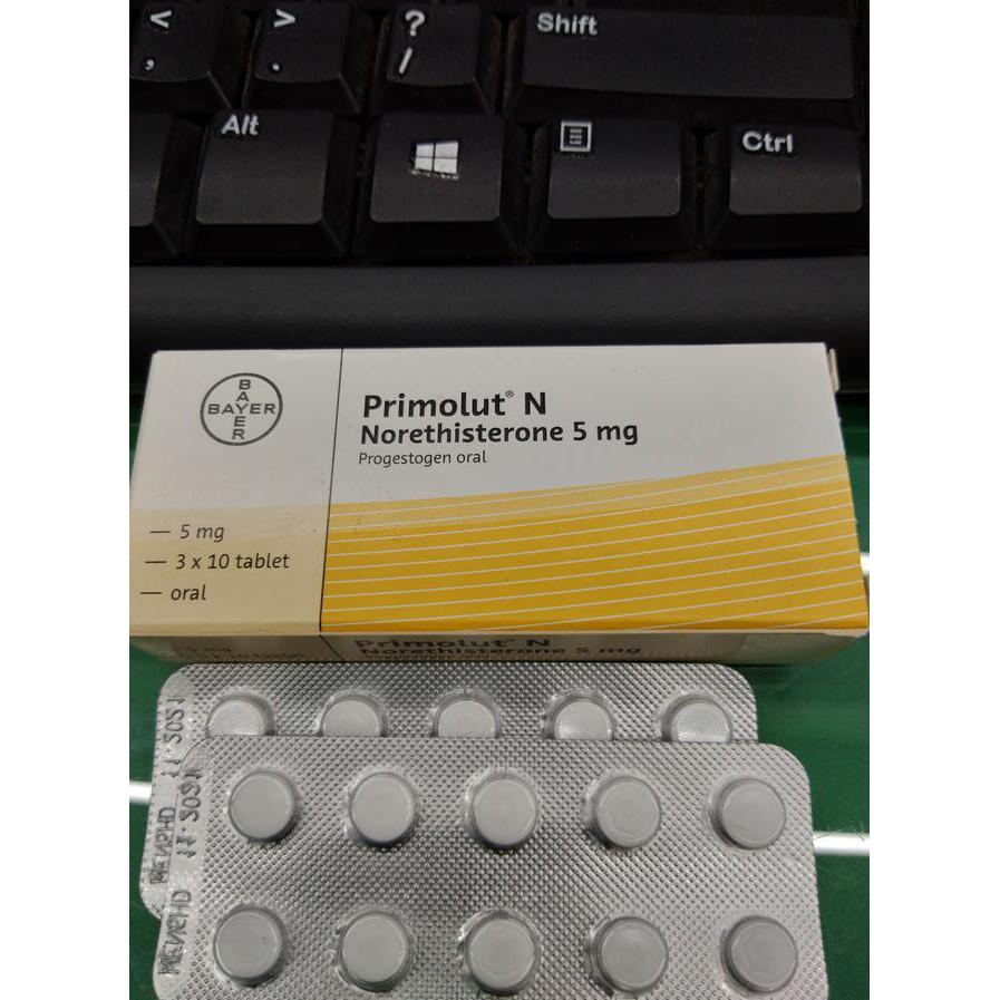 Sale Primolut N Norethisterone 5 Mg 1 Strip Isi 10 Tablet Kode Folavit 400mg Per Qr0930 Shopee Indonesia