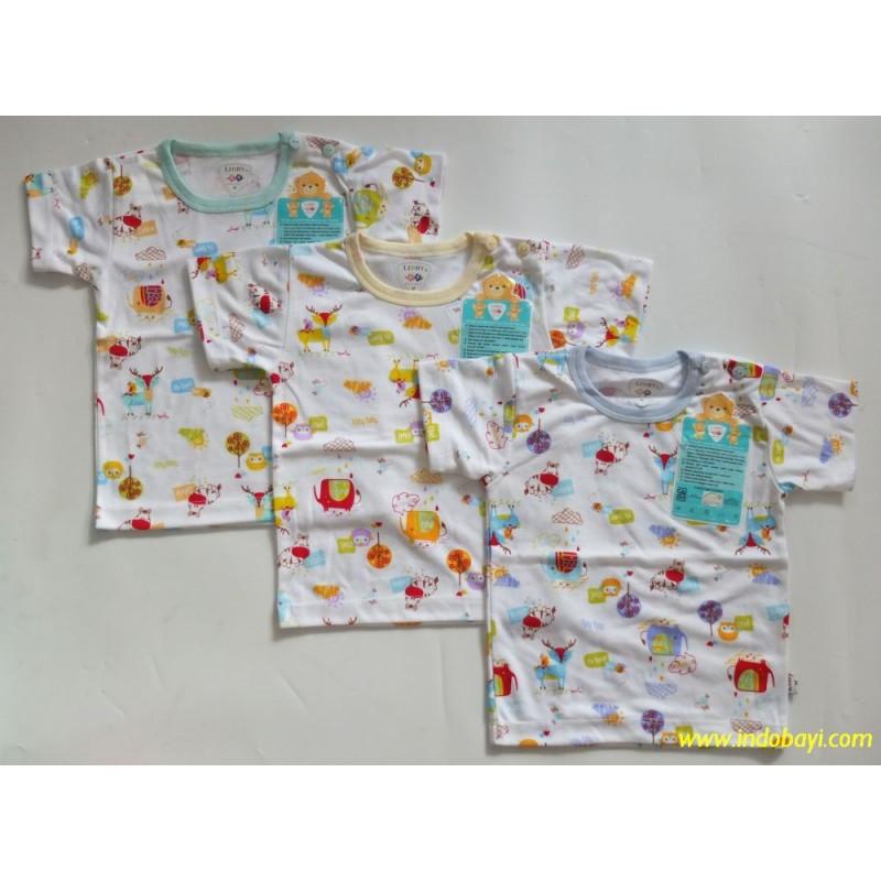 Kaos oblong bayi FINKA warna dengan kancing di leher baby new born   Shopee Indonesia