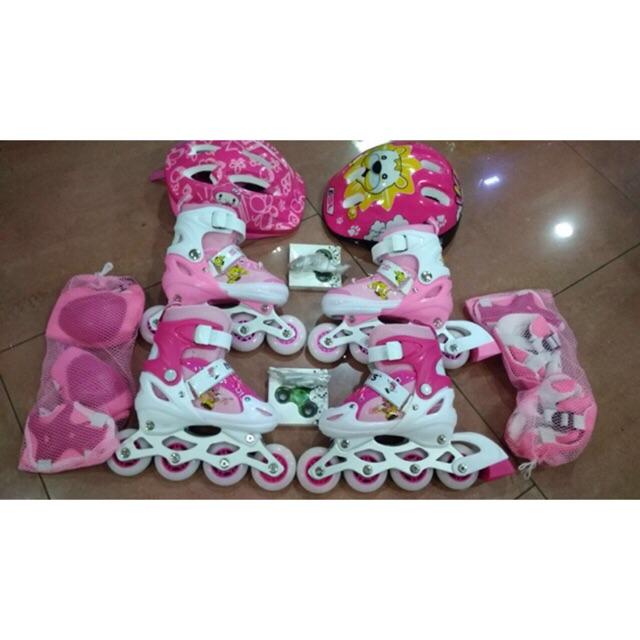 Fullset Sepatu Roda Anak   inline skate (bisa BAJAJ komplit with DEKKER)  2068c0498d