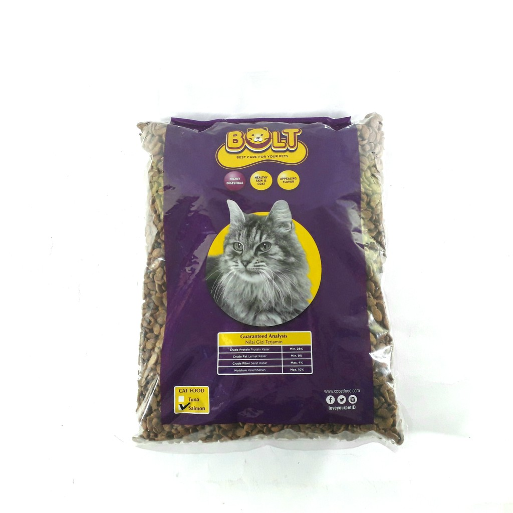 Makanan Kucing Bolt Salmon 1000gr Shopee Indonesia