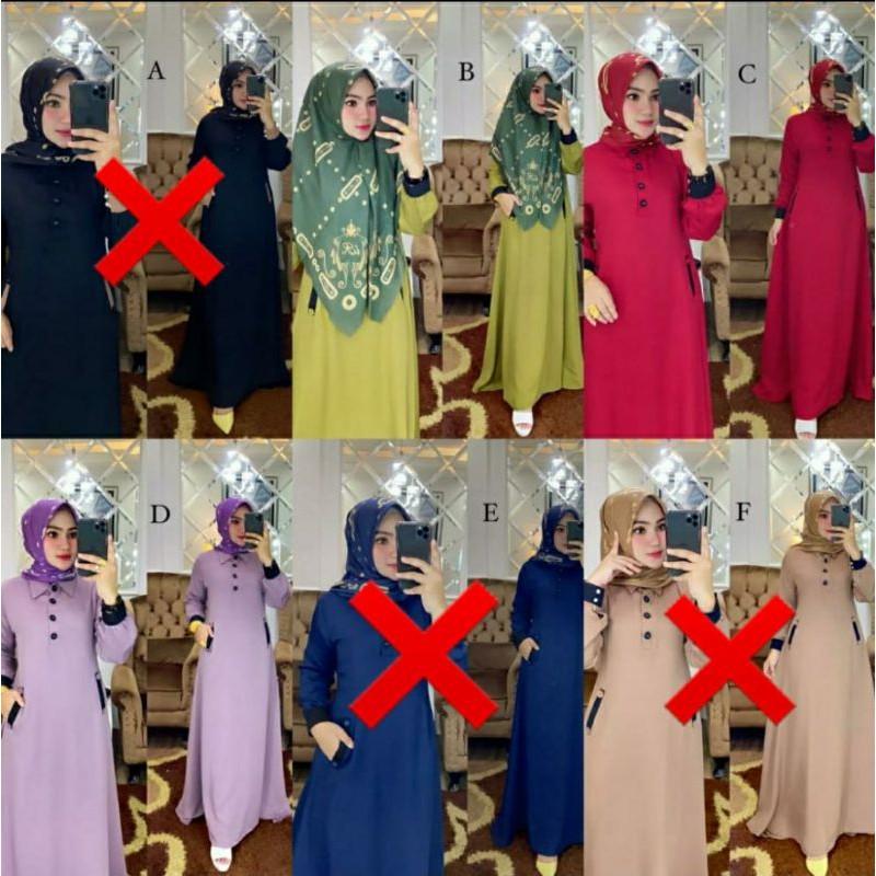BASIC DRESS SET PLUS PRINTING SCARFT ORIGINAL BY IRNA GALLERY