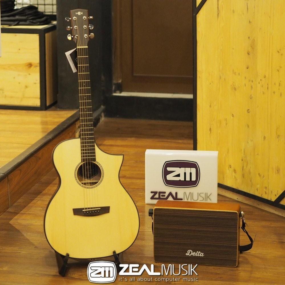 PROMO HEX F100 CE M GRATIS Cajon - Gitar Akustik Elektrik - Zeal ...