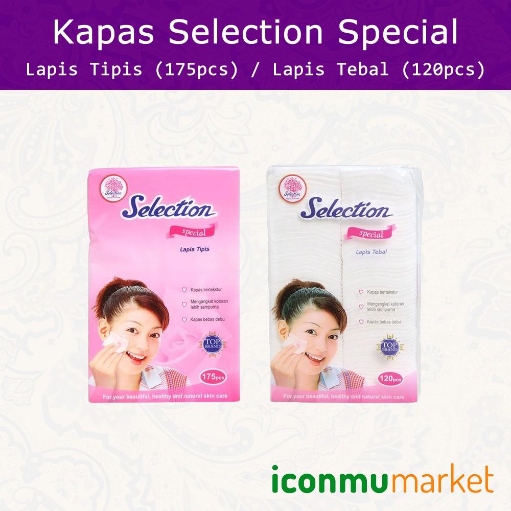 Selection Facial Cotton Special Kapas Lapis Tipis 175pcs Shopee Paket Isi 3 Wajah 50 Gram Perpack Indonesia