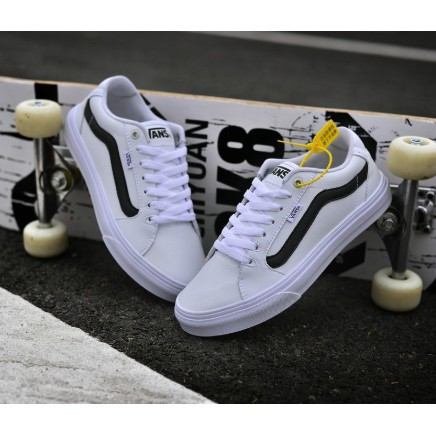 Vans Old Skool 2018 The New White Leather Unisex Skateboard Shoes Casual Shoes Shopee Indonesia