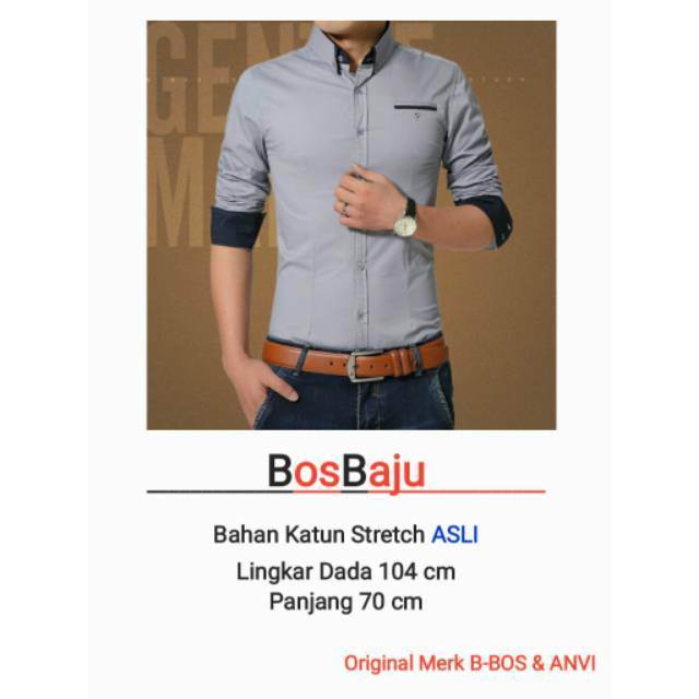 BosBaju - MIster Khakis Kemeja kantor pria polos lengan panjang (14 Warna) | Shopee Indonesia