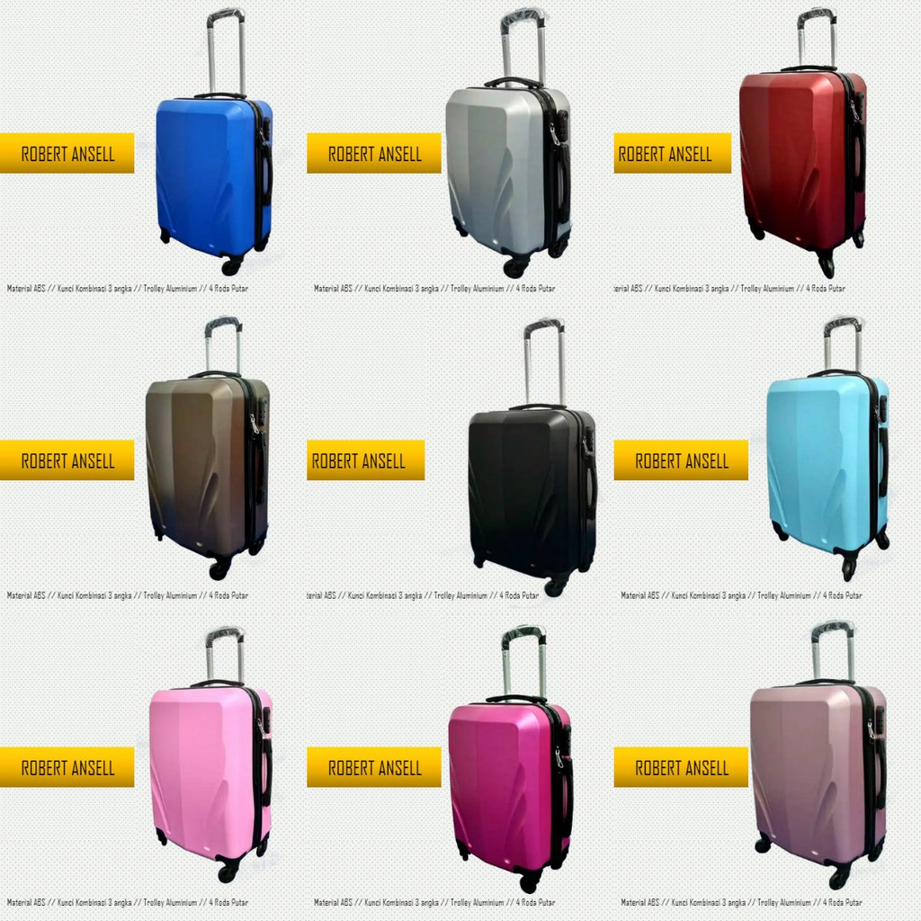 Promo Harga Murah Koper Kabin Fiber Hardcase Polo Fans 2025 22 Inch Tas Abs 4 Roda Inci  Pabrik Putar Shopee Indonesia