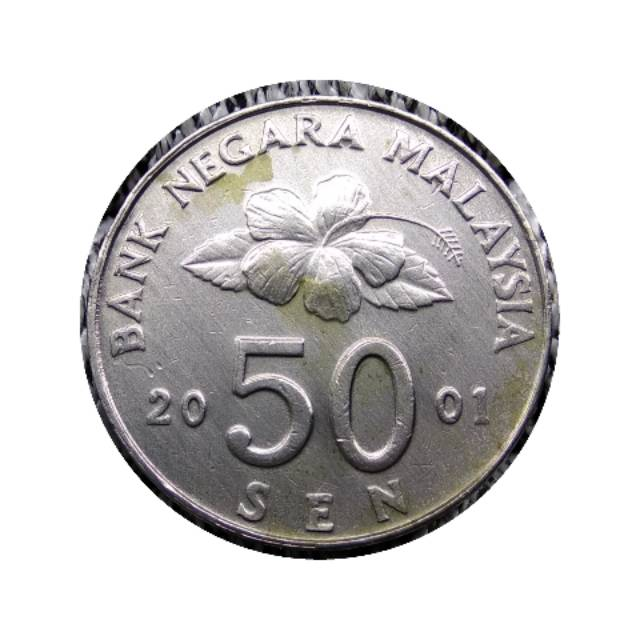 Koin Malaysia 50 Sen Layangan 2001