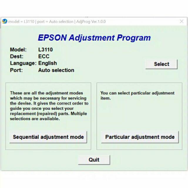 Reset Epson L3110 Waste Ink Pad Adjustment Program Original Resetter