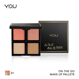 YOU  Basic Collection On The Go Makeup Palette [ Blush on, Highlighter, Bronzer]