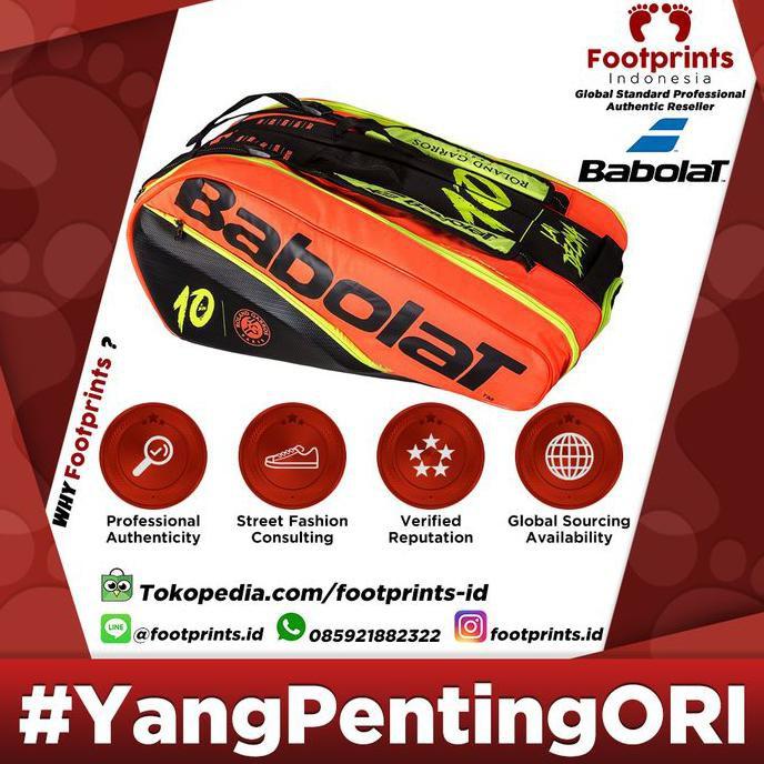 Tas Raket Tenis Babolat Pure La Decima Nadal 12r Pack Tennis Bag Terbaru Shopee Indonesia