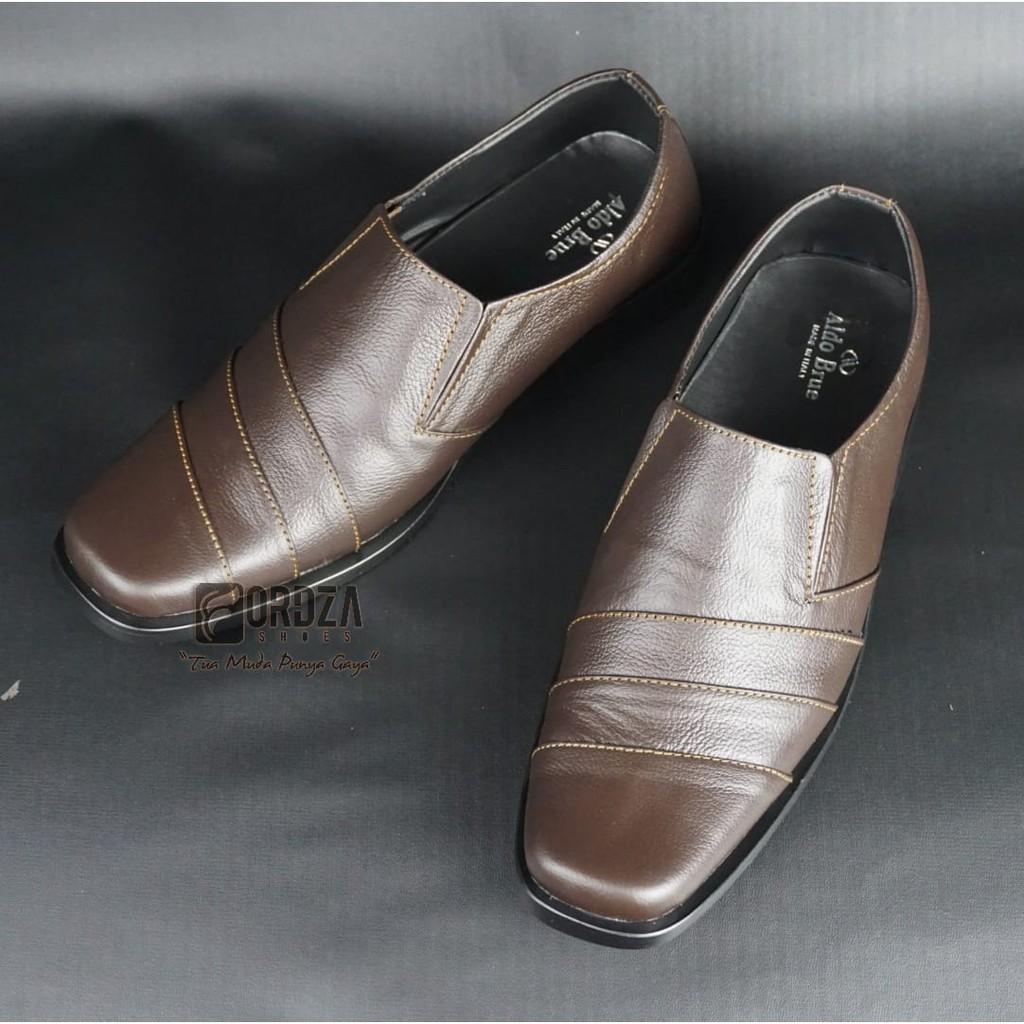 Sepatu Pantofel Pria Formal Sepatu Kerja Kantor Kulit Asli MURAH 075HT  628eaf6261