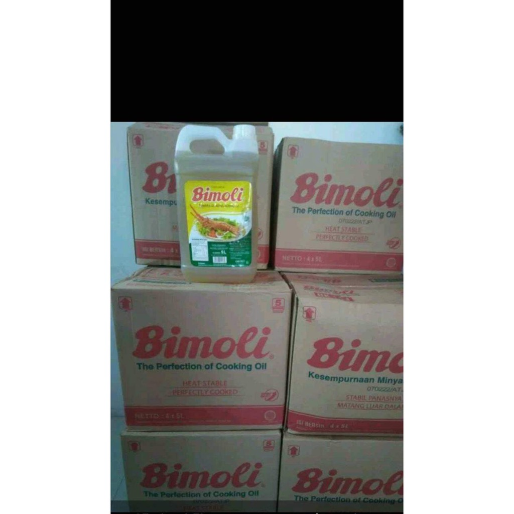 Minyak Goreng Bimoli 5 Liter Dus isi 4pcs Derigen