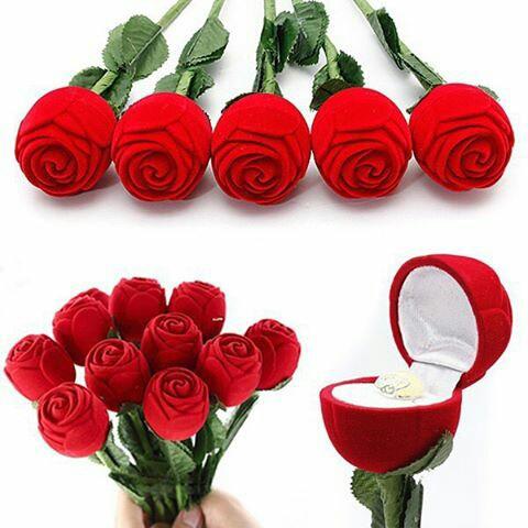 Kotak Cincin Bunga Mawar Ready Pink Kotak Hadiah Shopee Indonesia