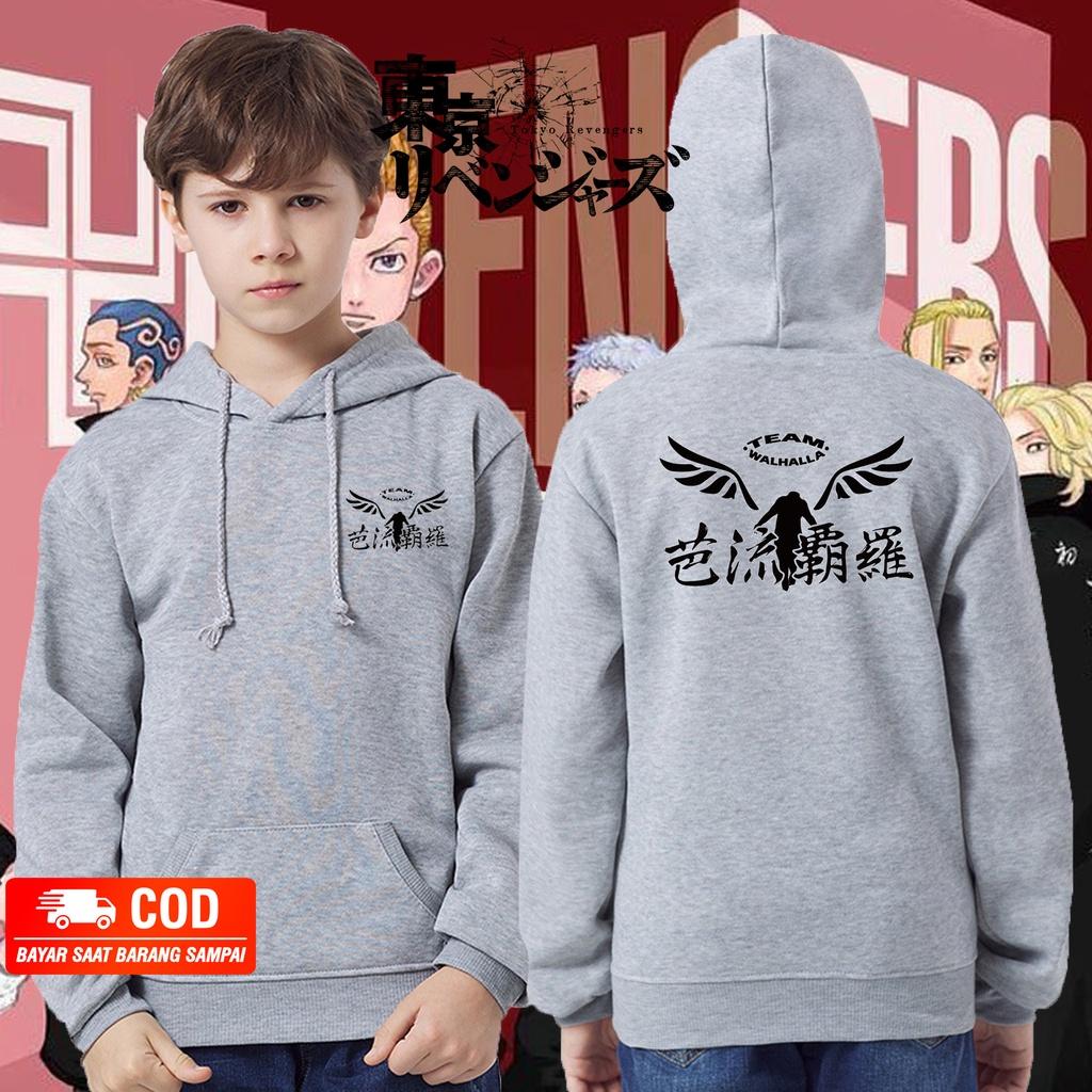 jaket anak VALHALLA TOKYO REVENGERS / sweater hoodie anak valhalla baji / JAKET VALHALLA