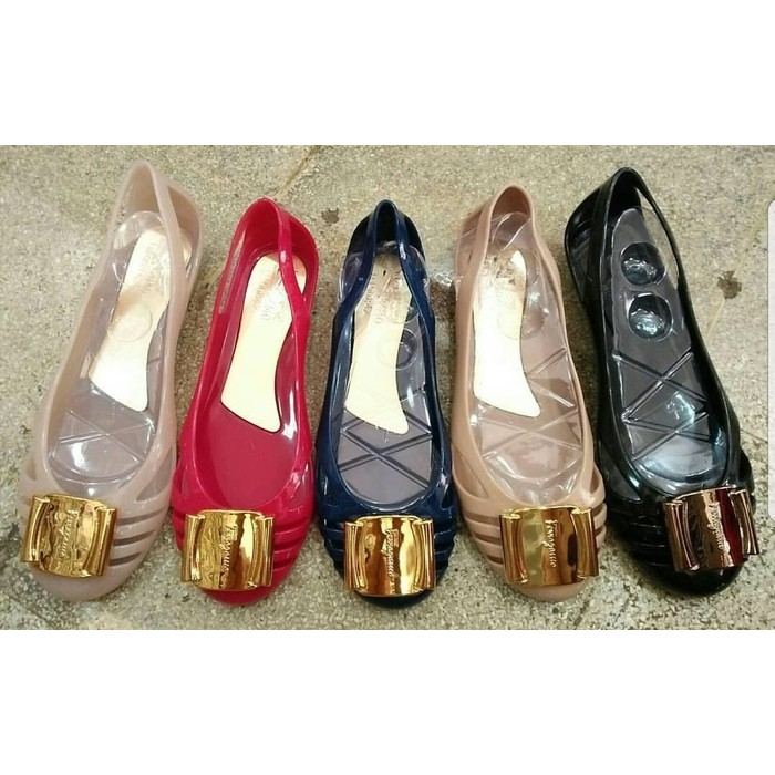 3ef82641206b SALVATORE FERRAGAMO FLAT JELLY SHOES 6096