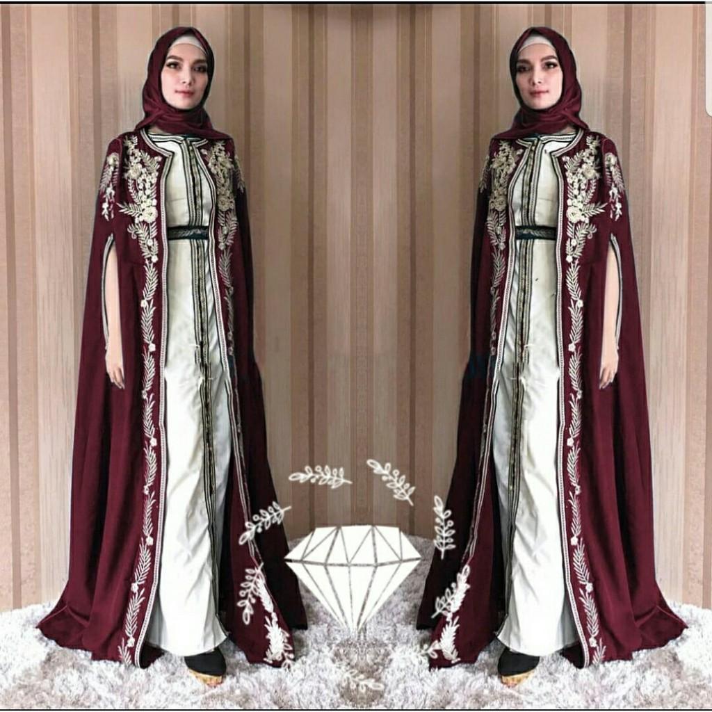KT1111 Gamis Pesta Queen 1111in11 11WARNA / CL / Busana Pesta Muslimah Terbaru /  Pakaian Muslim Best Seller
