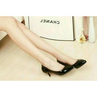 Perbandingan harga ? sepatu kerja wanita sepatu pantofel high heels hitam polos glossy lowest price -