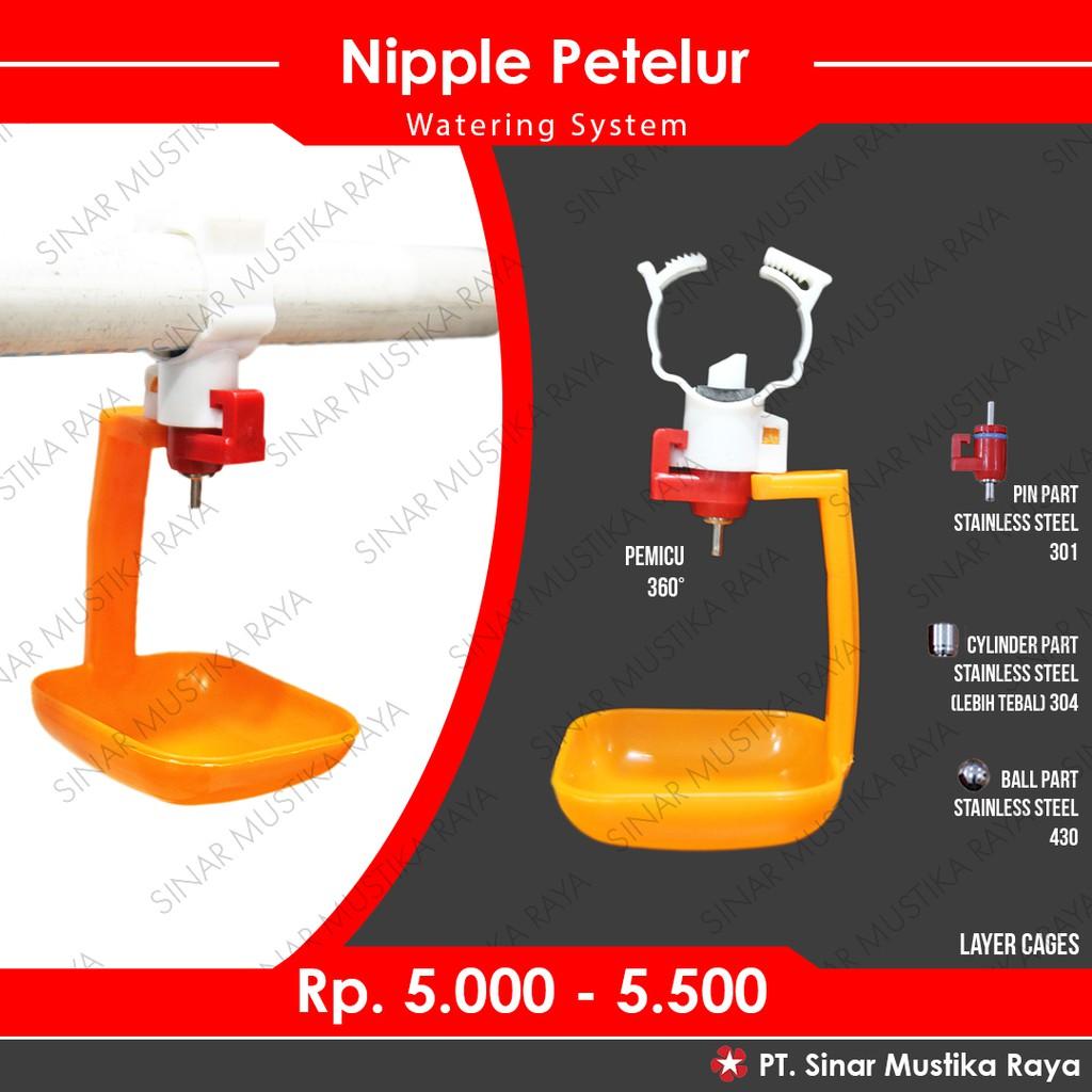Nipel Nipple Nippel Nepel Ayam Petelur Puyuh Layer A9+Mangkok