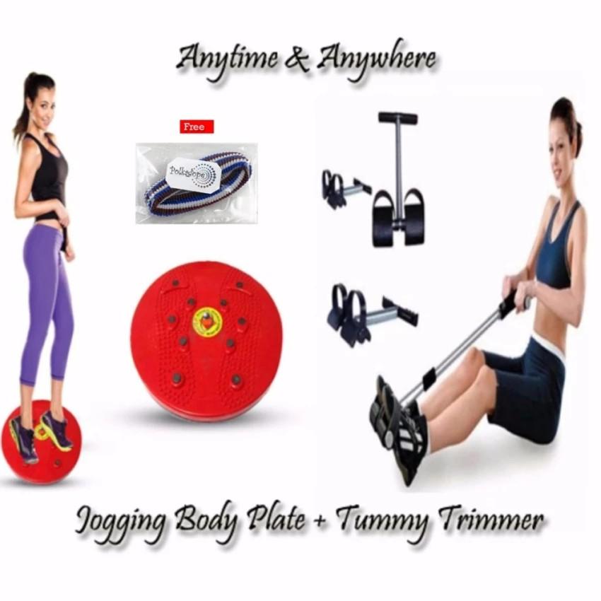 Paket Combo Alat Kesehatan Fitness Tummy Trimmer Dan Nikita Jogging Body Plate | Shopee Indonesia