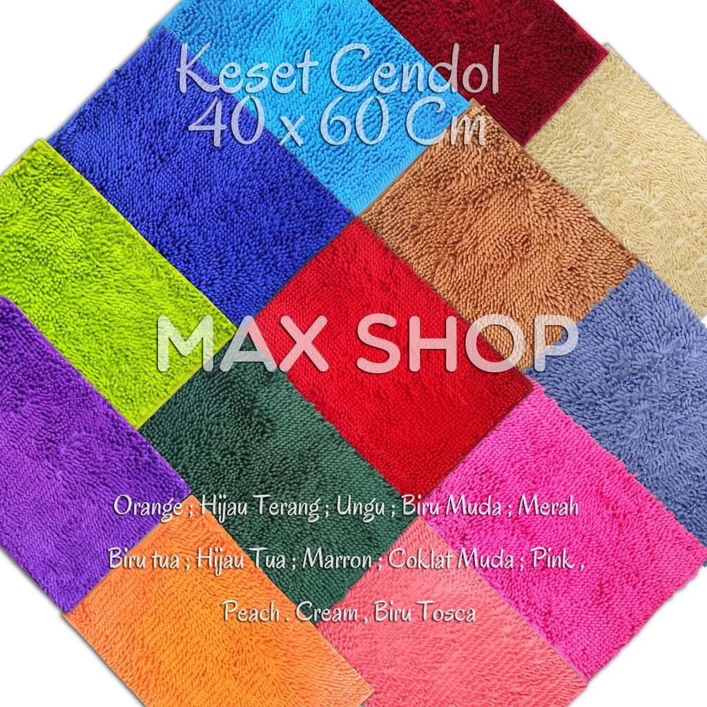 Keset Kaki Halus Microfiber Cendol 40 x 60 cm TEBAL Anti Slip   Shopee Indonesia
